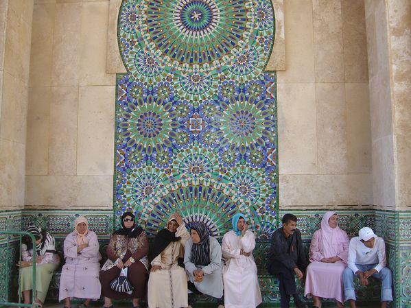Extérieur de la mosquée Hassan II à Casablanca