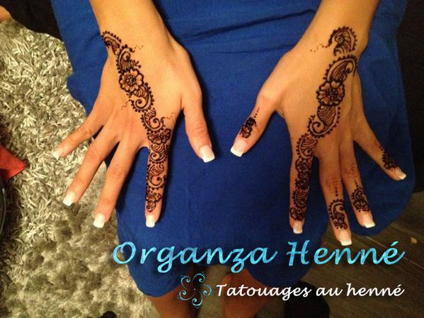 Henne organza henn tatouages henn et tatouages - Henne simple main ...