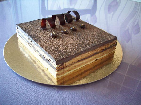 gateau anniversaire chocolat café