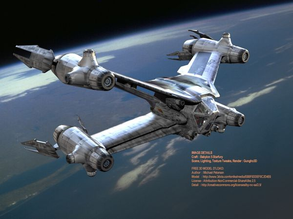 Babylon 5 Starfury Tribute by Gungho3D
