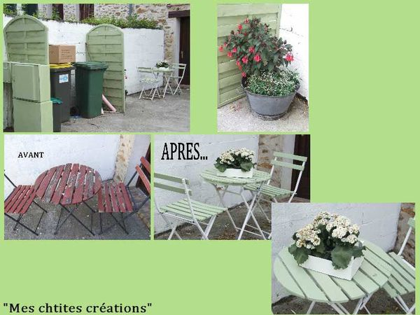 petit salon de jardin relook le blog mes chtites creations. Black Bedroom Furniture Sets. Home Design Ideas