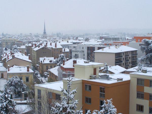 Villefranche sur Saône sous la neige le 1 décembre 2010 -
