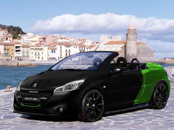 peugeot 206 cc 208 gti 30th anniversary edition. Black Bedroom Furniture Sets. Home Design Ideas
