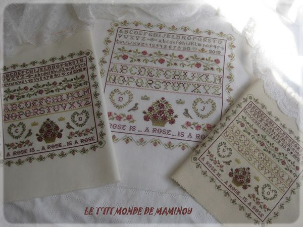 SAMPLER ROSES MARYSE MAMINOU VALERIE CHRISTINE