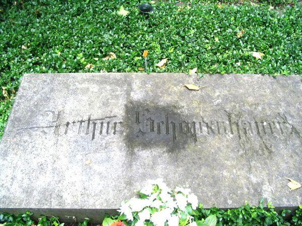 Grabstein Schopenhauer à Francfort