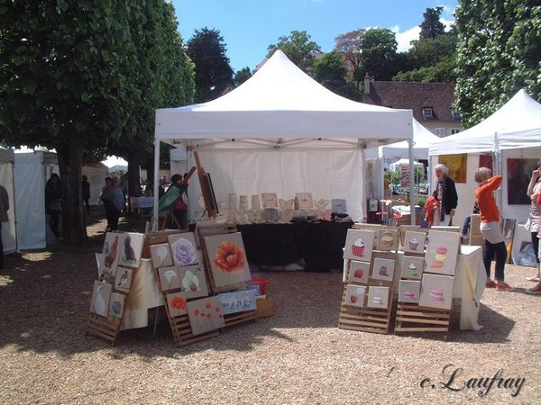 Stand art dans les rues Catherine Laufray
