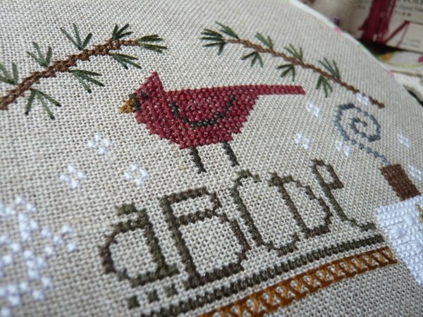 Red bird sampler 3