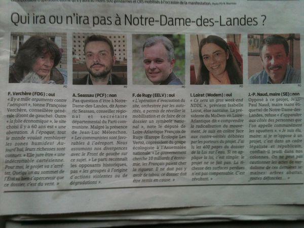 Qui ira ou n'ira pas à NDDL Presse Ocean 17 nov 2012
