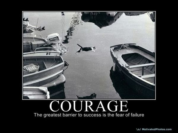 best demotivational posters courage