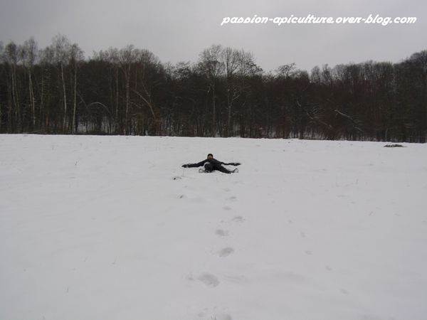 coucher dans la neige