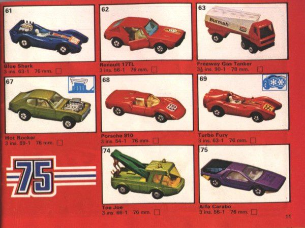 catalogue matchbox 1975 p11