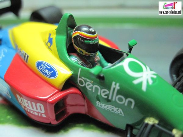 F1 BENETTON FORD B188 1988 THIERRY BOUTSEN MINICHAMPS 1/43  car
