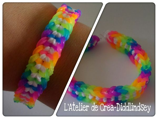 Bracelet En élastiques Ci Rainbow Loom Double Dragon Capped Scale