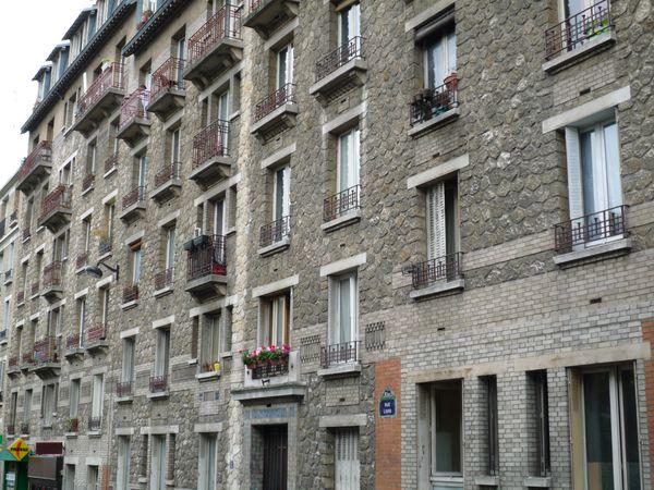 alignement d'immeubles rue Liard