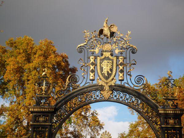 Coq d'or grilles du Palais de l'Elysée