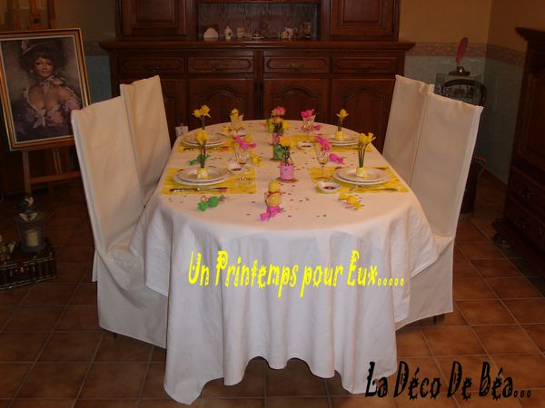 Un printemps pour eux deco de tables plats d co - Decoration table printemps ...