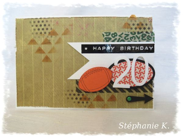 Carte Anniversaire Theme Rugby Pati Hands