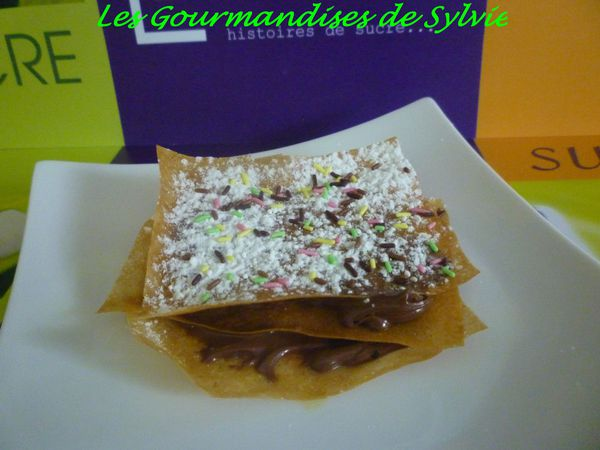 Millefeuille Express au Nutella 1