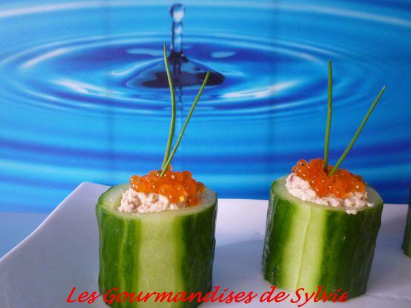 Bouchées de Concombre Farcies au Thon 2