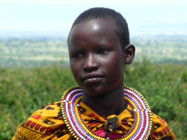 Femme Masaï regard triste