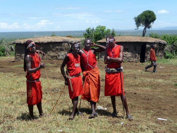 plusieurs masaï dragueurs