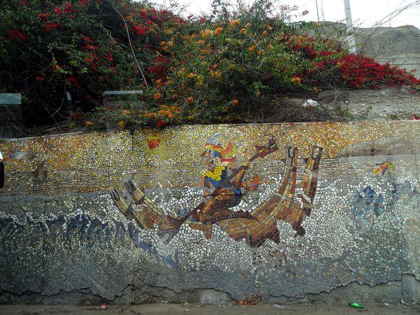 Lima Miraflores falaise fresque