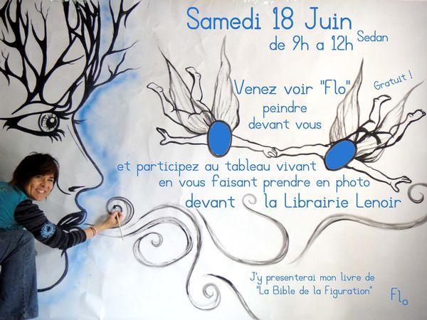 Peintre Ardennais Fresque Flo Megardon Librairie Lenoir 1