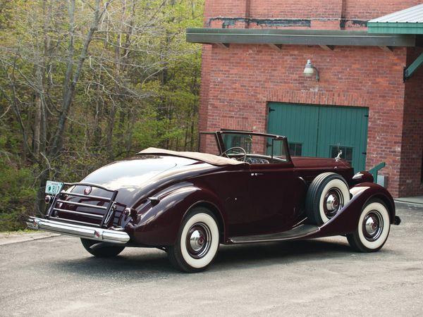 packard twelve convertible victoria 1937 104