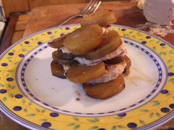 mille feuilles de topinambours et foie gras (20)