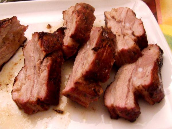 Travers de porc marin cuit au four lafermedevillars - Cuisiner travers de porc ...