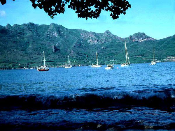 093 Mouillage Nuku hiva anse de TAIOAHE 1982