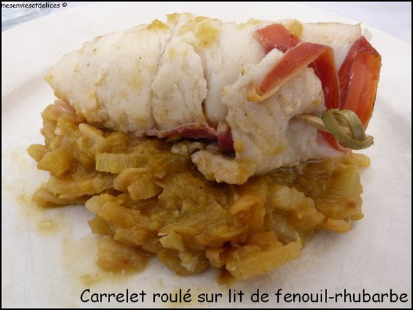 carrelet rhubarbe fenouil
