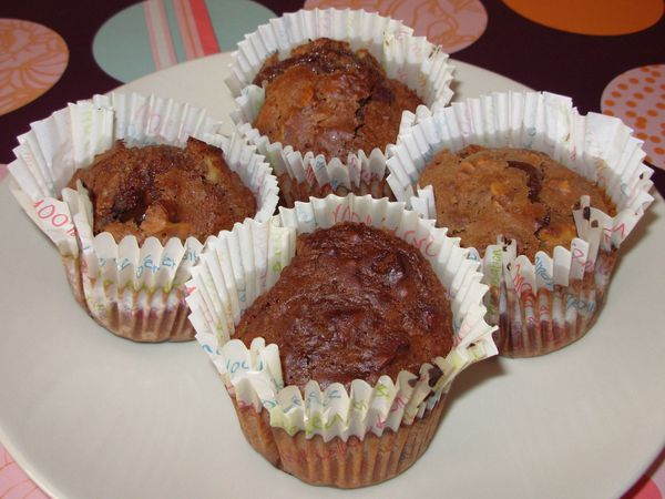Muffins-brownies aux noix2