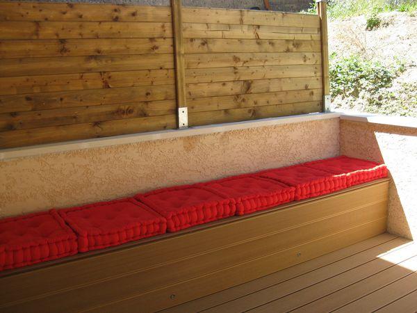 Terrasse bois pas a pas le blog de g et aur l - Comment faire une banquette en bois ...