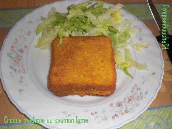 Croque madame au saumon fumé