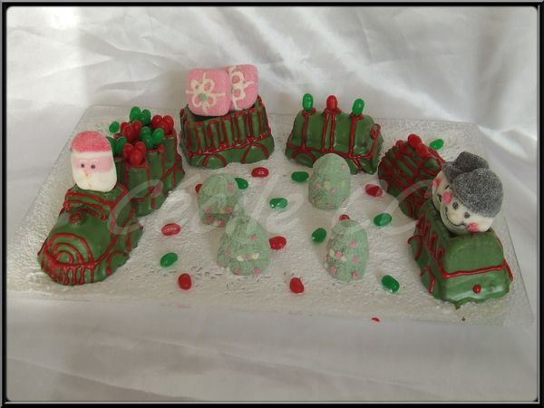 Gateau train de noel