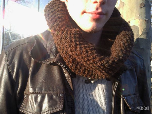snood point de riz homme 1