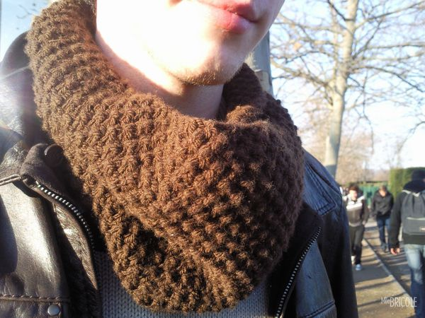 snood point de riz homme 2