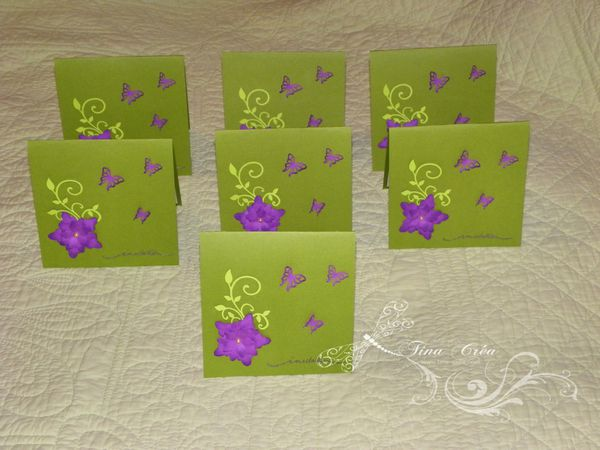 INVITATIONS,60,ANS,KIRIGAMI,PAPILLON