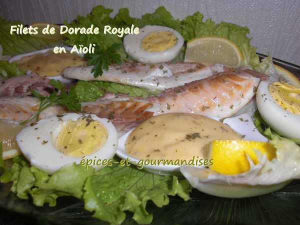 filet de daurade royale en aïoli CIMG4839 (2)