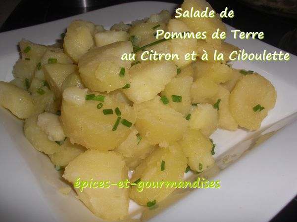 salade de pommes de terre au citron la ciboulette pices et gourmandises le blog de. Black Bedroom Furniture Sets. Home Design Ideas