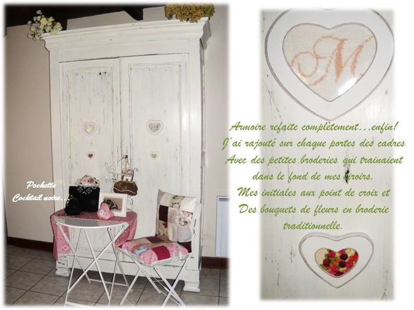 armoire et coeur broderie
