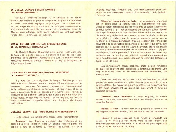 Programme 1976 Dhagpo 4