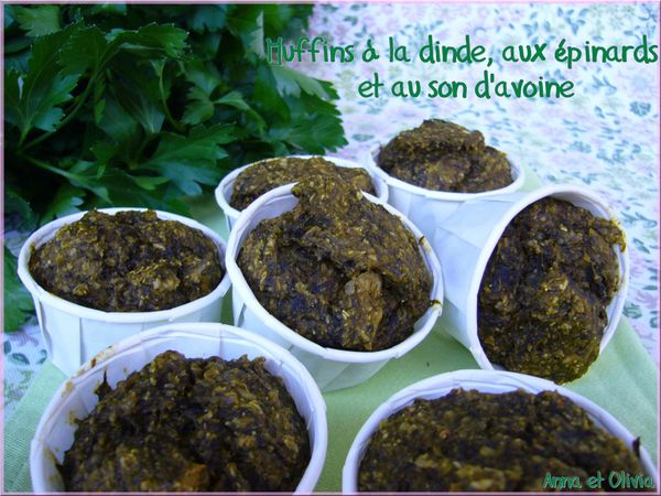 muffins épinards son d'avoine
