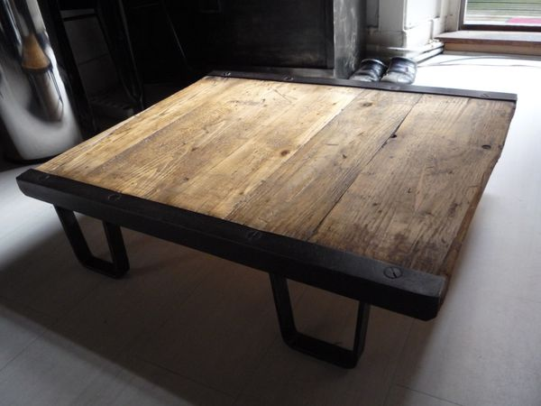 D coration table basse bo concept 26 rouen table - Table en planche de coffrage ...