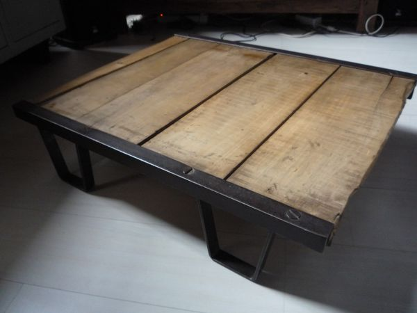 palette sncf table basse industriel loft - mettetal industry