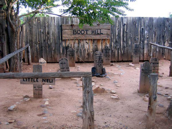 Kanab Frontier Movies cimetière
