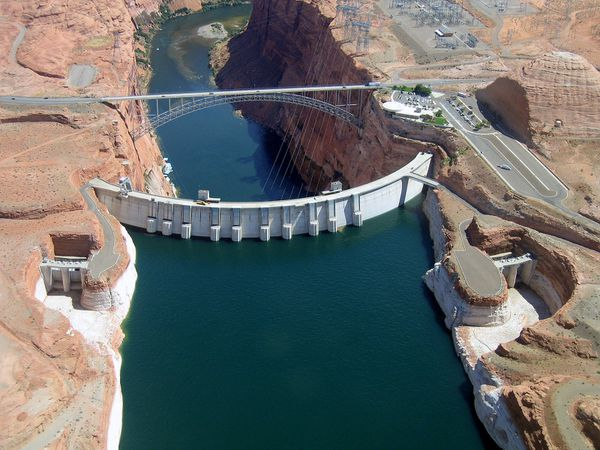 Lac Powell barrage Glen Canyon