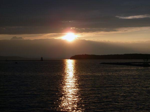 Burlington lac Champlain coucher de soleil