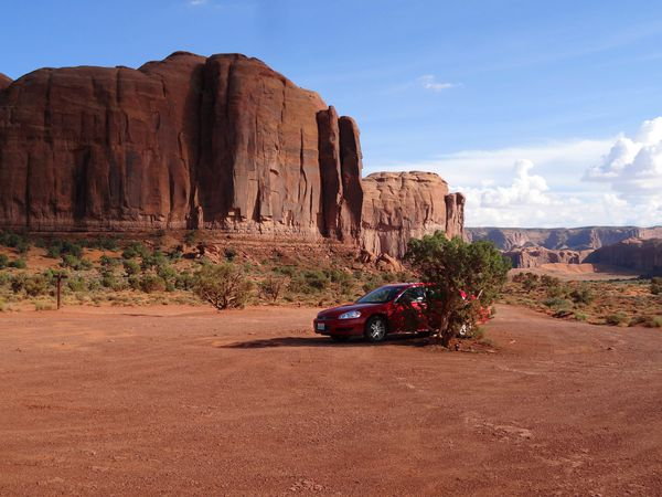 Monument Valley voiture ombre